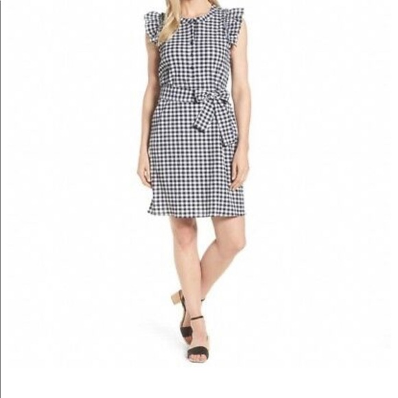 47e14f16ad8 Gibson Dresses   Skirts - Gibson black and white gingham tie dress NWOT